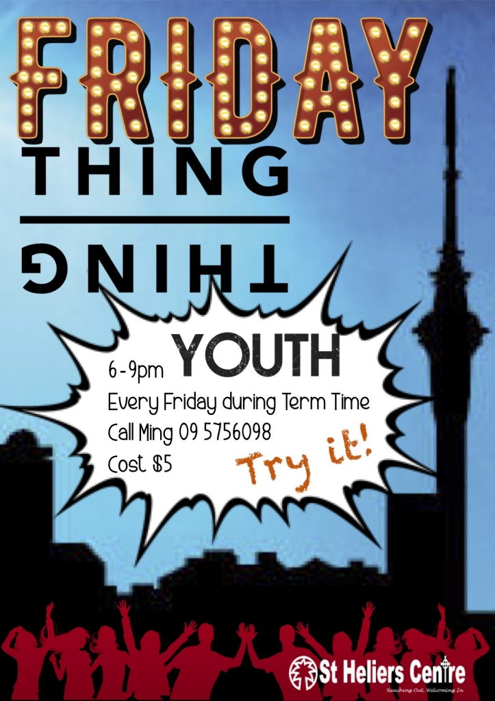 FRIDAY THING POSTER TERM 3 2018