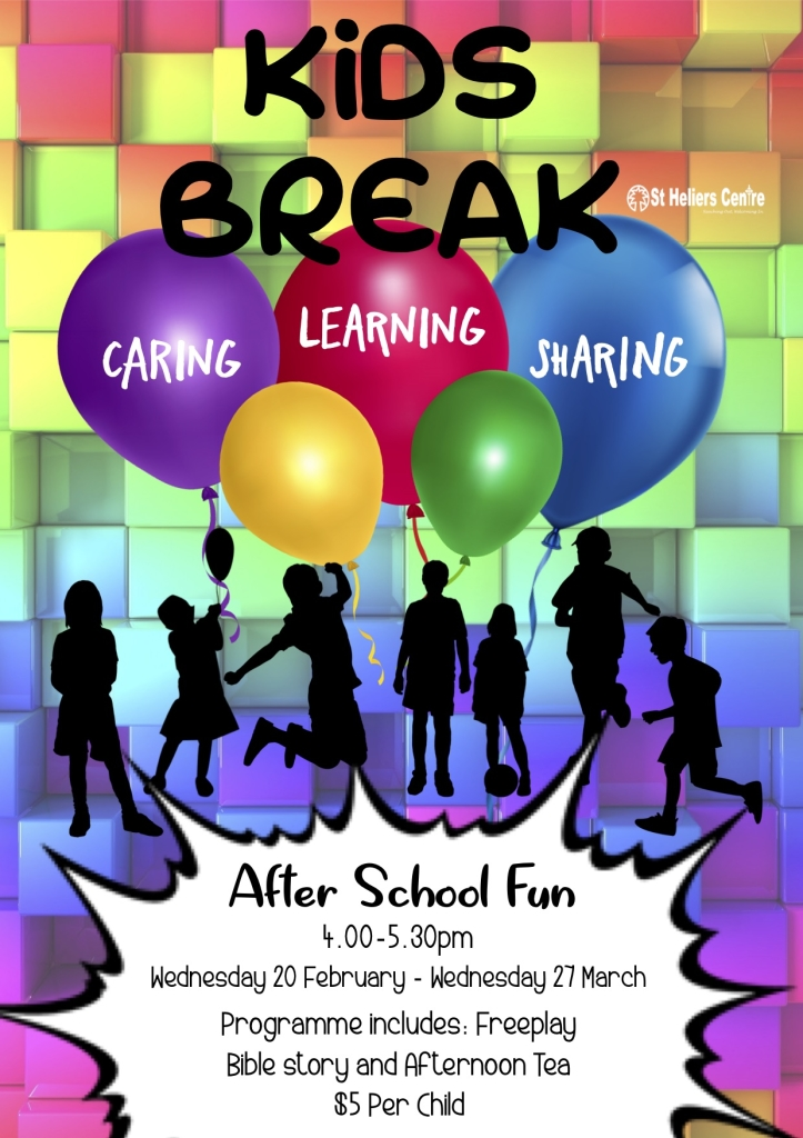 WEDNESDAY KIDS BREAK TERM 1 2019