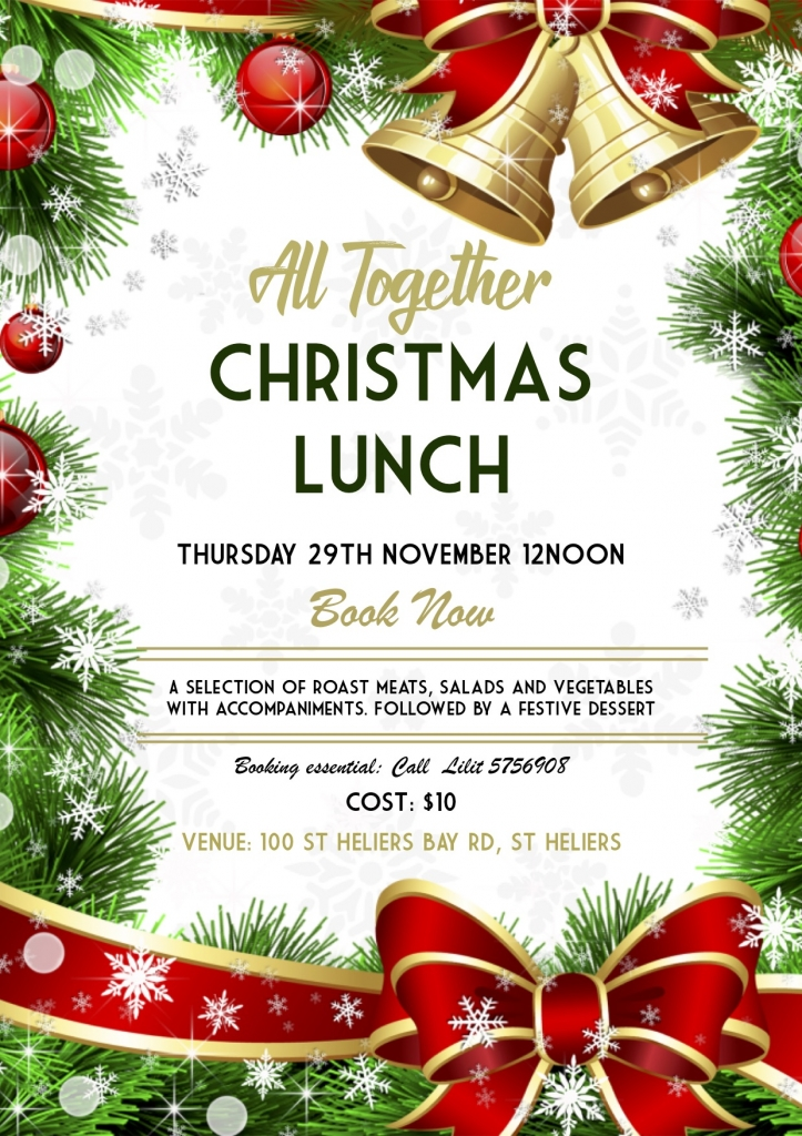 ALL TOGETHER CHRISTMAS LUNCH POSTER 2018