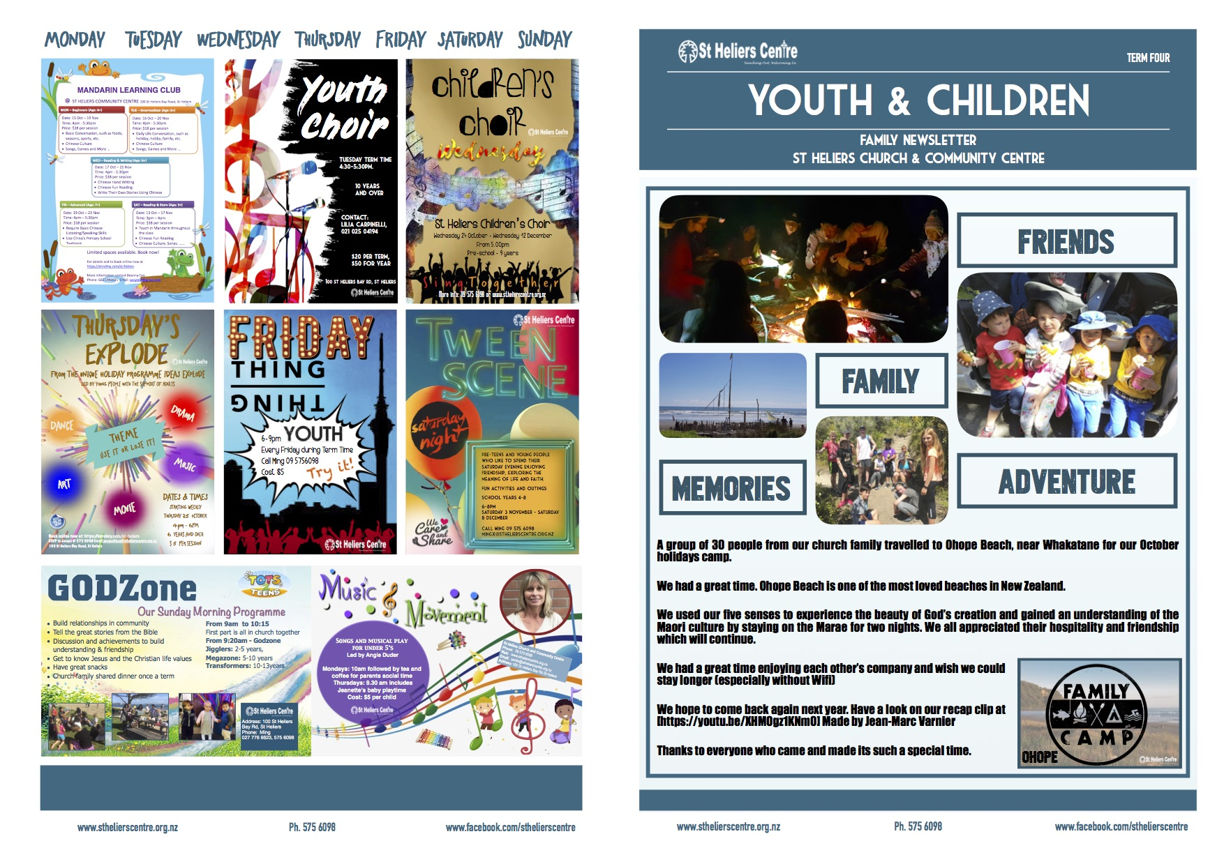 Youth and Children Newsletter Term Four 2018