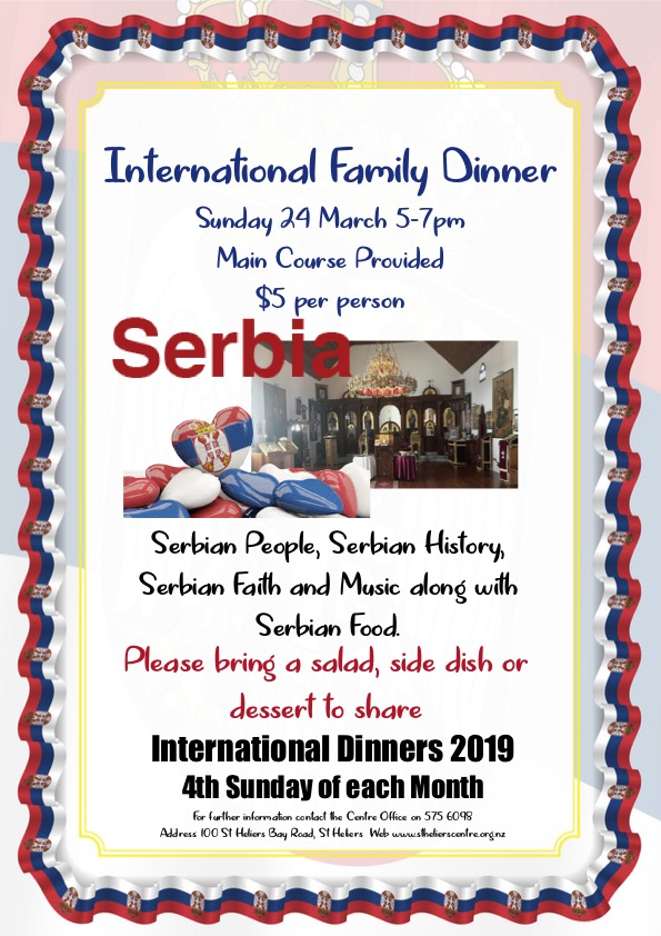 International Dinner 24 March 19