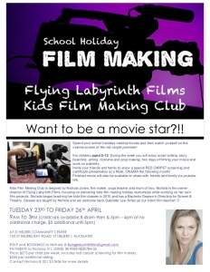 Film Class Flyer - St Heliers April 19 Holidays