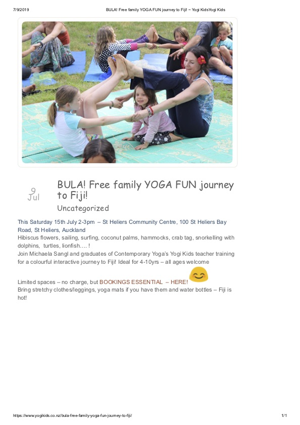 BULA! Free family YOGA FUN journey to Fiji! _ Yogi KidsYogi Kids (1)
